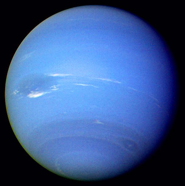 La Gran Mancha Oscura, meteorología en Neptuno